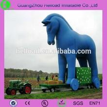 large plastic blue horse/big inflatable blue horse/giant plastic blue horse
