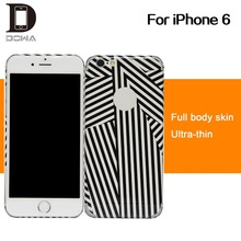 full body cover phone skin for iPhone6, colorful skin stickers factory supply