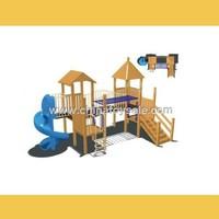 Cheap Wooden Kids Outdoor Playground Slide 2015