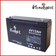 Maintenance free sealed lead acid battery 6V12Ah vrla battery for sale