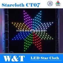 NEW Led Club Star cloth CT07,animation 2.5X2.5M, RGB Tri.