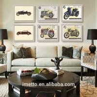 Modern glass art wall paintings plates