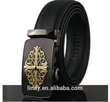 2015 Fashion Men's Belt LD-BE8007 Men's Genuine Joker Leisure Leather Belt Folwer Automatic Buckle Wholesale