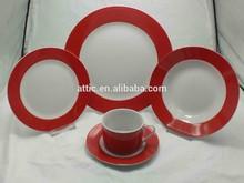 27pcs Crockery Dinnerware Sets Fine Porlain Color Dinnerware for 6 people