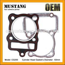 Manufacture CG200 gasket engine,motorcycle cg200 gasket,cg200 gasket