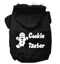 Cookie Taster Screen Print Hoodies Pet Dog Clothes Christmas Costume