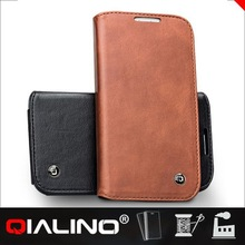 QIALINO Cute Design Customization Imported Leather Cover Case For Samsung For Galaxy S4 Active I9295