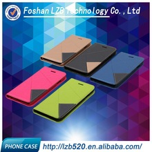 LZB permium leather flip case cover for Alcatel one touch pop C5