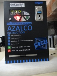 SMART VENDING BREATHALYZER with 3 digital LED display Of BAC, Micro-computer control
