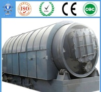 Waste Tire and Plastic Recycling Pyrolysis Equipment to Fuel Oil Renewable Energy Permitting from Government