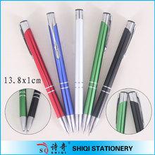 Metallic colorful promotion half metal pen