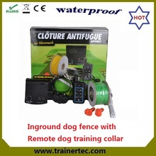 rechargeable underground electric dog fence & 300 meters remote dog trainig collar