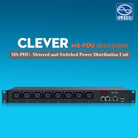 Smart PDU remotely monitor and switched IP PDU horizontal or vertical type