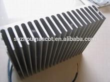 Prata anodizado alumínio dissipador de calor OEM