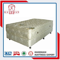 Comfortable luxury hotel bed mattress and foundation