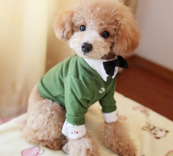 eco green short style pet bow tie suit dog halloween costumes
