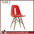 Perna de madeira réplica da cadeira de plástico, cadeira eames, plástico cadeira eames