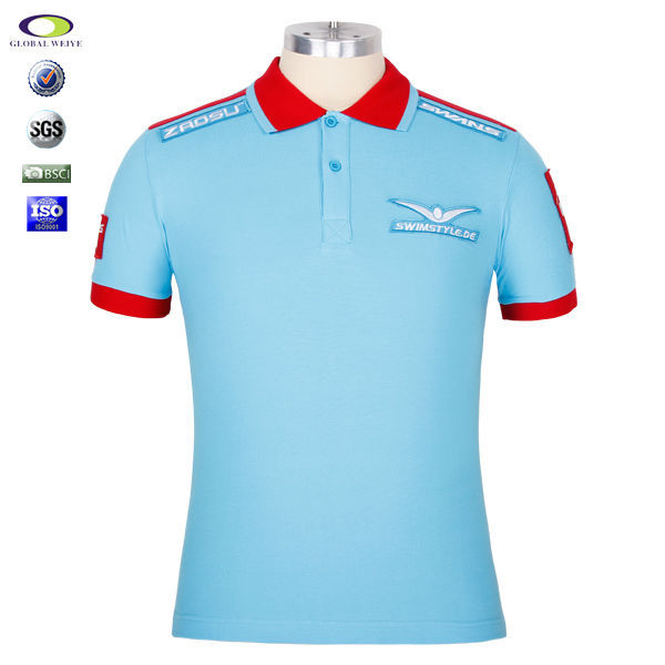 custom polo t shirt with your company embroider logo view