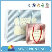 2015 fashion luxury antique custom logo printed handy fashion kraft paper bag manufacturer