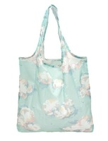 Cheap Flowers printing polyester shopping bag foldable