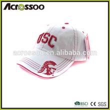 Wholesale contrast embroidery baseball cap/custom logo sandwich 6 panels cap