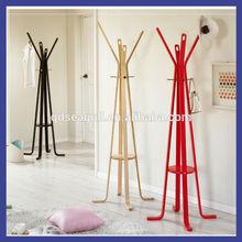 New design hot sale wooden coat rack E1 standard