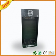 cardboard flat trays for sports ,cardboard floor display stand for sporting goods ,cardboard dump bin display for sporting goods