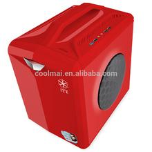COLORFUL PC CASE WITH Speaker/amplifier handle computer mini Case