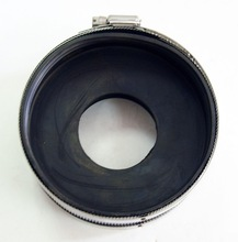 Type D pipe coupling with rubber inside