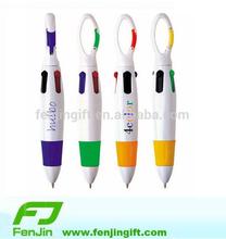 custom printed logo cheap 4 color carabiner pen