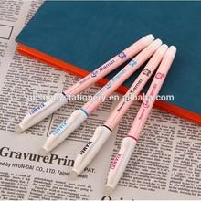 2015 new design exquisite lovely erasable gel pen