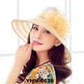 nuevo de alta calidad de las mujeres 2015 sombreros de moda de verano superior sombreros de playa