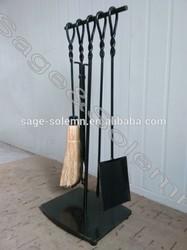 Forged Iron Fireplace Tool Set