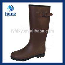 brown long neoprene mature women rubber latex boots