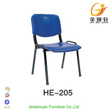 Office and home use four leg armless plastic chair stackable HE-205