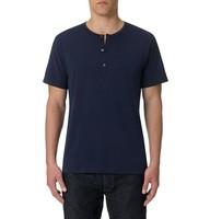 wholesale 3 button navy henley t shirt