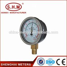 Stainless steel freon steam pressure gauge