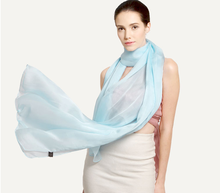 Custom Plain 100% Silk Chiffon Scarves Shawl