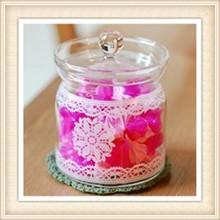 glassware round decorative candy glass jar glass spice jar