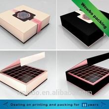 2015 high quality cardboard paper chocolate packing folding box