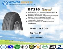 TBR tire,truck&bus tyre,radial tire,BT216 7.50R16LT