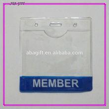 Horizontal shape clear color vinyl credit card holder