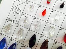 Beautiful 6.5*13mm white crystal pearl teardrop beads