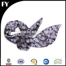 Custom digital printing of 100% chinese silk scarf
