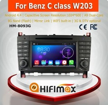 HIFIMAX Android 4.4.4 capacitive touch screen dvd gps for mercedes benz c-class w203 car dvd player