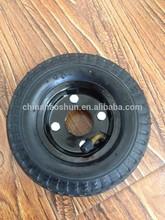 "pneumatic rubber wheel 6""x2"" no bearing and hub"