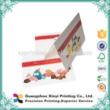 Full color wholesale custom paper craft handmade birthday card