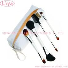 Hot 4PCS Make up Blush Cosmetic Brushes Set Kit Bag Case Makeup Products