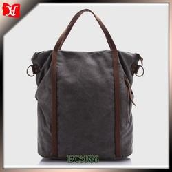 oem production cotton canvas tote bag woman plain canvas tote bag leather handle