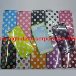 Fashion Polka Dot Gel TPU Glossy Soft Case Cover Skin for iPhone 6